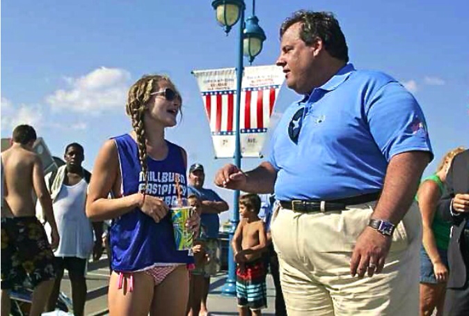 Governor Christie at the beach