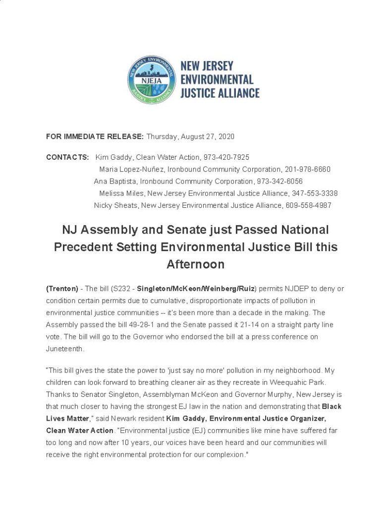 Environmental Justice Bill