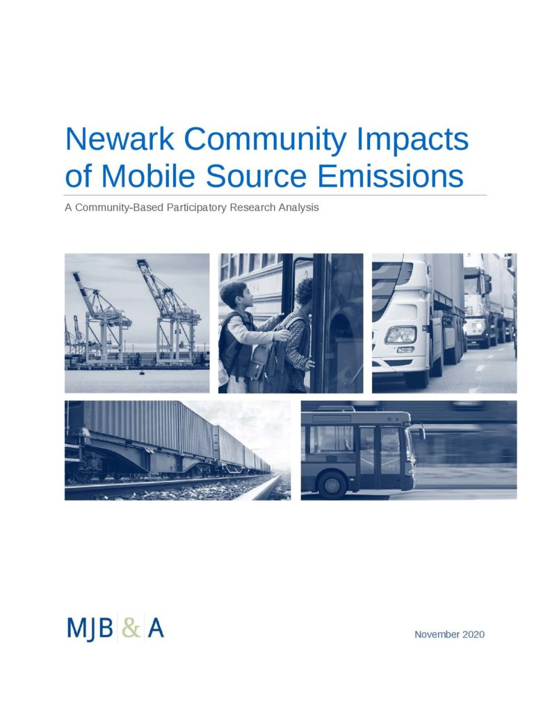 New Research: Newark Community Impacts of Mobile Source Emissions